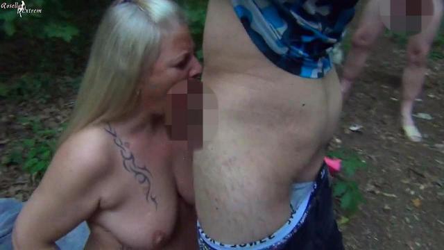 Als Rastplatz-Bitch, öffentlich, fremde Schwänze geblasen und Sperma geschluckt! Teil 3