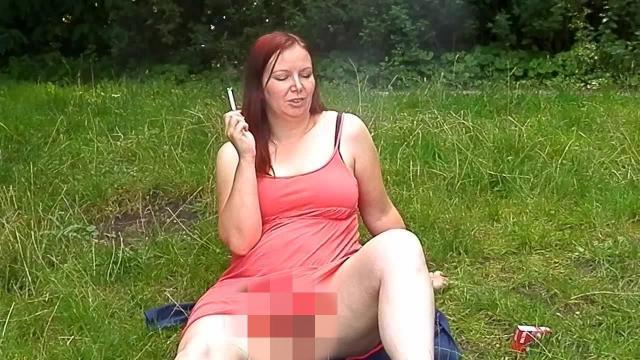 Raucherpause am See