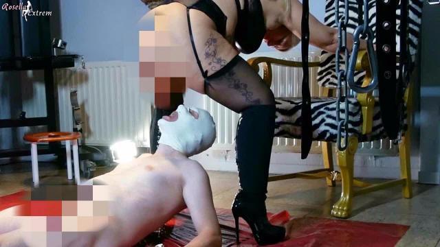 Sklavenköter mußte mir dienen und meine Pisse saufen!