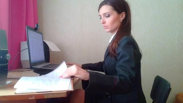 Heiße Geschäftsfrau