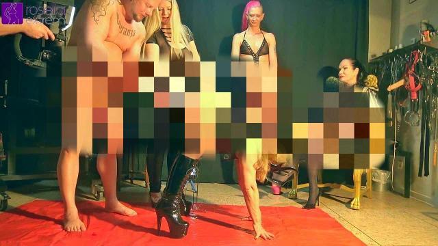 Unsere Lustsklavin musste einen Sklaven verwöhnen! Einlauf, Rimming, Ficken, Furzen und Cumshot!