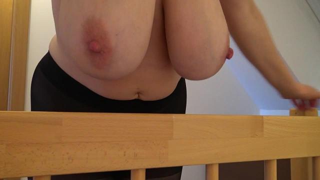 Brüste mit Strumpfhose