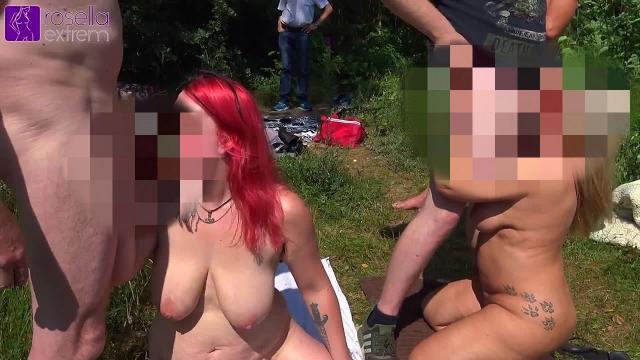 Public BlowJob Event am See, für jederman(n), mit Harley und Rosella! Teil 1