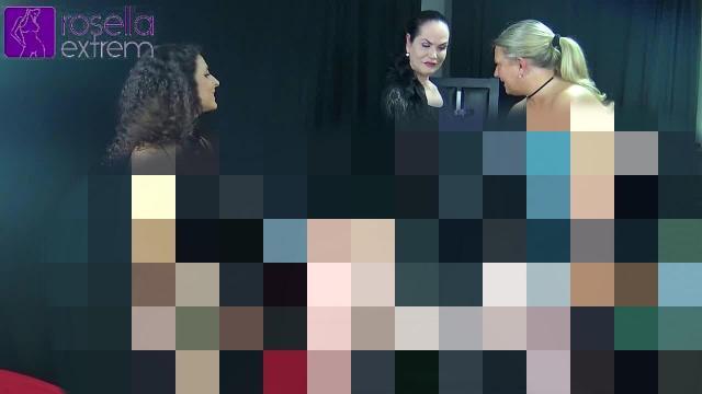 Extreme FemDom-Session! mit Mara und Rosella! Teil 3! StrapOn-Arschficken