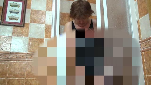 Badeanzug in der Dusche