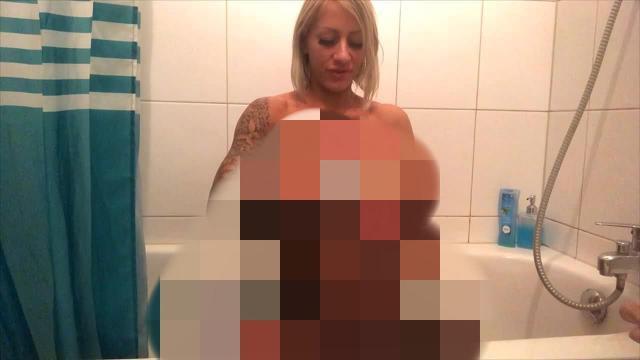 Dusch Dildo Fick Mega Squirt Orgasmus
