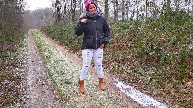 Bei -5°C in die weiße Hose gepisst...