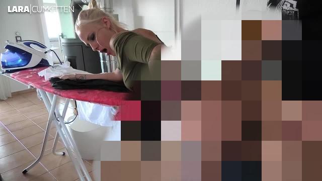 Ich bügel seine Hemden - Er bügelt mich   FICKEN bis das Kondom platzt