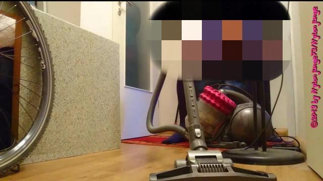 Erotisches Staubsaugen in Blauer Strumpfhose ** FAN Video 7 **