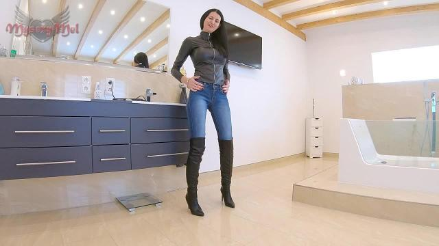Stiefel Jeans Piss