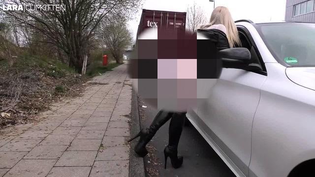 Stiefel FICKSTÜCK von der Straße geknallt | Ich SCHLUCKE den Mega Cumshot